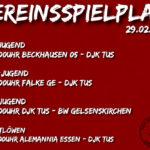 Vereinsspielplan 29.02.2020