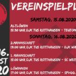Vereinsspielplan 15/16.08.2020